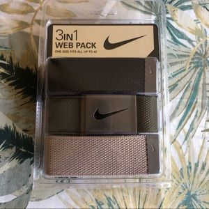 Men's Nike 3 In 1 Web Belt Pack NEW Fits Up To 42
